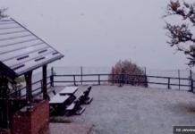 Screenshot 2019 10 03 Počeo Padati Snijeg Snježna Mećava Na Jahorini, Poneka Pahulja Na Bjelašnici