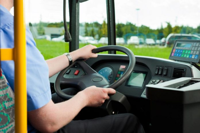 Vozac Autobus Ilustracija