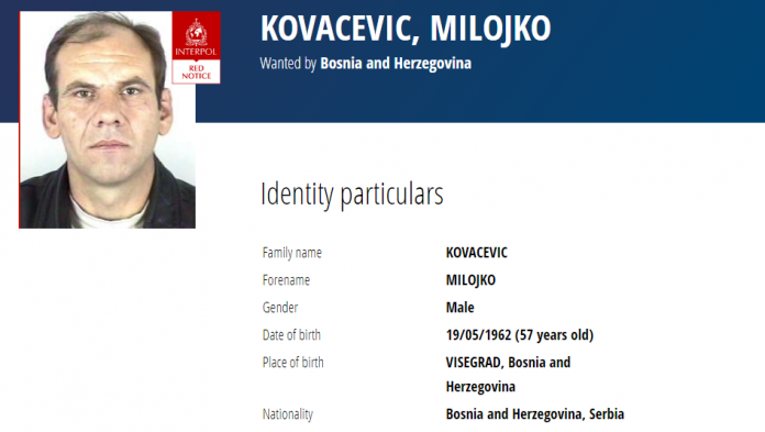 Kova Evic Milojko Interpol