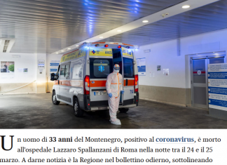 Screenshot 2020 03 25 Coronavirus, Morto A Roma 33enne è La Vittima Più Giovane Nel Lazio