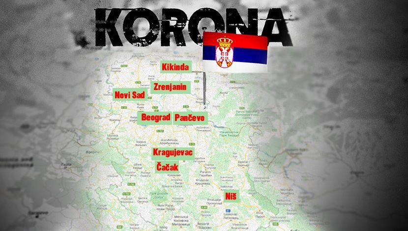 Mapa Srpskih Gradova U Kojim Su Oboleli Visegrad Info